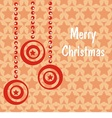 postcard with red christmas toys vector image vector image