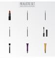 realistic brow makeup tool day creme eye vector image vector image