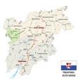 road map italian region trentino-alto adige vector image vector image