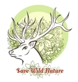 Save Wilde Nature vector image vector image