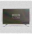 screen lcd plasma realistic flat smart tv vector image vector image
