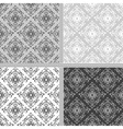 Seamless ethnic damask pattern collection vector image vector image