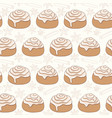 seamless pattern with cinnamon rolls and spice vector image vector image