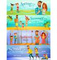 Season Family Banners vector image
