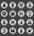 Set of 16 editable heart icons includes symbols