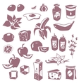 Set of daily meal vector image