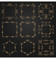 Set of decorative frames and borders Mono line vector image vector image