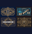 set templates with banners vintage and design vector image vector image