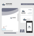 ship business logo file cover visiting card and vector image vector image