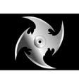 shuriken throwing knife vector image