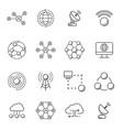 simple set big data database cloud computing vector image