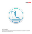 skating shoe icon - white circle button vector image