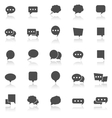 Speech Bubble icons with reflect on white vector image vector image