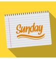 Spiral calendar sunday notebook notepad long vector image vector image