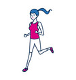 sport woman character people fitness vector image