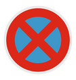 stop prohibited icon flat style vector image