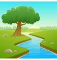 Summer Cartoon Landscape vector image vector image