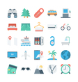 Travel and Tourism Colored Icons 2 vector image vector image