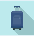travel summer bag icon flat style vector image vector image