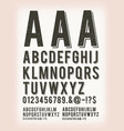 vintage grunge and tattoo abc font vector image