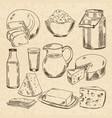 vintage hand drawn of yogurt vector image vector image