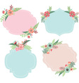 Wedding Flower Frames vector image vector image