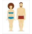 White man and woman bodies vector image