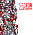 wireframe polygonal background abstract form vector image vector image
