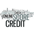 z online credit score text word cloud concept vector image vector image