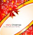 Christmas greetings card vector image