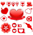 Design Elements with Hearts vector image