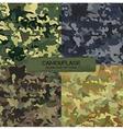 Set of original camouflage patterns Seamless vector image
