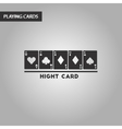 black and white style high card vector image