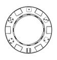 Single casino chip vector image