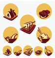 collection of japanese food symbols vector image