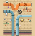 pipeline on plumbing concept background vector image