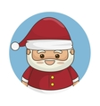 santa claus character icon vector image