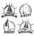 set of logos for sailing vector image