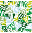 abstract floral seamless pattern tropical leaves vector image vector image