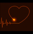 abstract heart cardiogram vector image