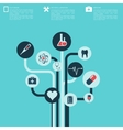 abstract medical background with flat web icons vector image vector image