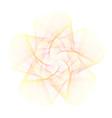 abstract overlay gradient orange star symbol vector image vector image