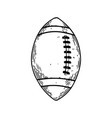 american football equipment engraving vector image vector image