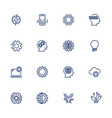 artificial intelligence related icons vector image vector image
