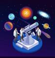 astrophysics isometric composition