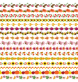 autumn border patterns vector image vector image