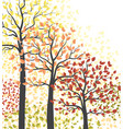autumn multicolored forest vector image vector image