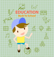 back to school education info graphic vector image vector image