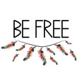 be free boho art print with decorative feathers vector image