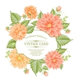 Beautiful card with a wreath of different color vector image